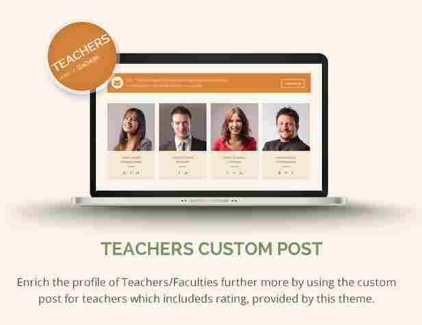 - 12 lms teachers - Teachers Custom Post