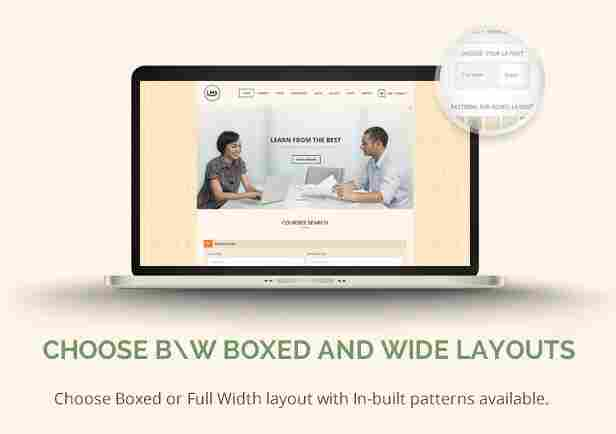 - 13 lms layouts - Boxed and Wide Layouts