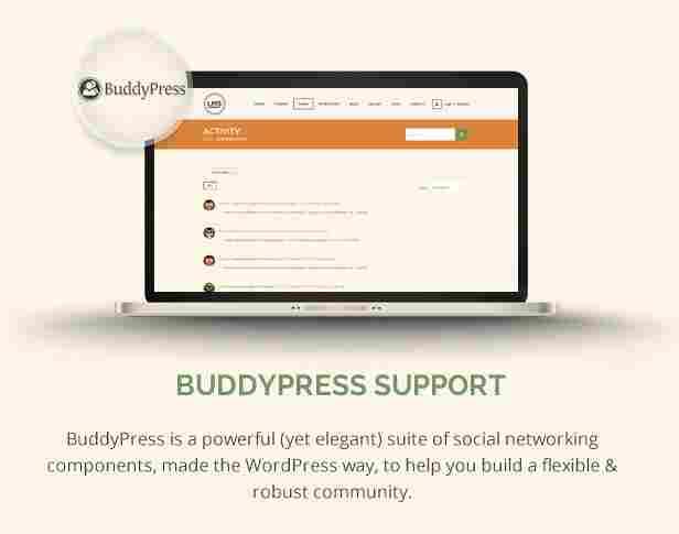 - 8 lms buddypress - Buddypress Support