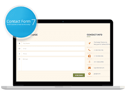 - contact form7 - Landing Page