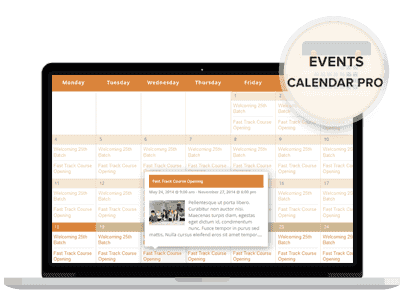 - events calendar - Landing Page