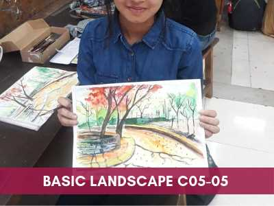 [object object] - Basic Landscape C05 05 - Online Art Courses for Age 4 to 15 yrs Kids in Pune, India Grafiti Expressions