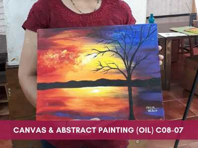 Canvas & Abstract Painting (Oil and Acrylic Colour)