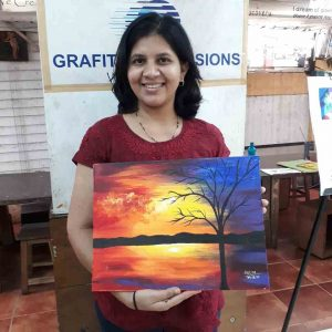 canvas & abstract painting - Canvas Abstract Painting OilC08 07 06 300x300 - Canvas & Abstract Painting (Oil) C08-07 Art Course Gallery for Adult