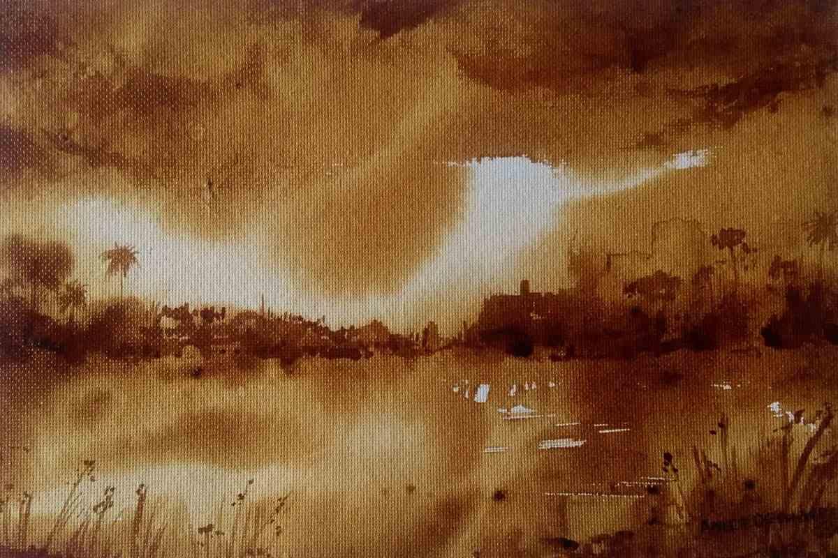coffee painting - Coffee Painting C09 02 01 - Coffee Painting