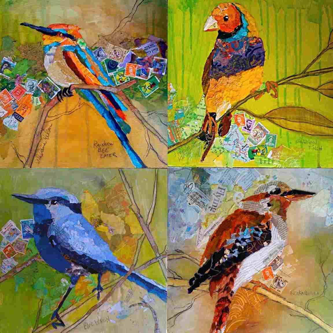 collage painting - Collage Painting C09 12 01 - Collage Painting