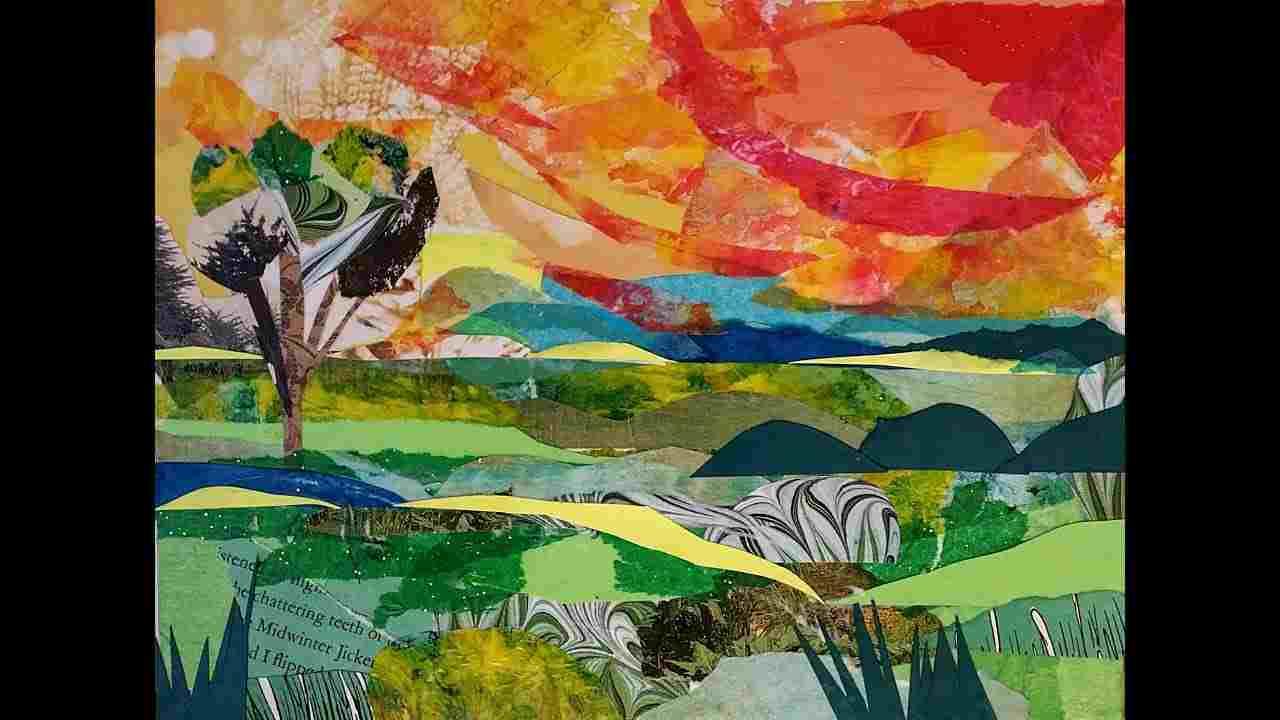 collage painting - Collage Painting C09 12 06 - Collage Painting