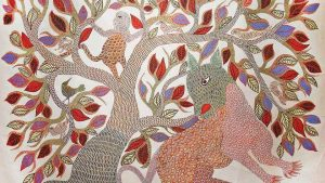 - Gond C10 01 01 300x169 - Warli, Madhubani, Miniature, Phad, Gond Painting C10-01