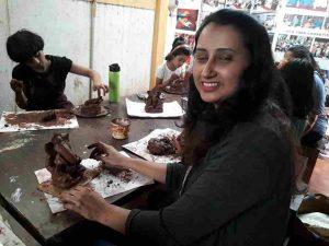 ganpati making - c14-04 - Pottery Workshop C11 04 01 300x225 - Ganpati Making – C14-04