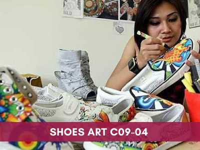 advance painting & media courses - Shoes Art C09 04 - Advance Painting & Media Courses