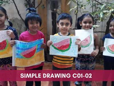 [object object] - Simple Drawing C01 02 - Online Art Courses for Age 4 to 15 yrs Kids in Pune, India Grafiti Expressions