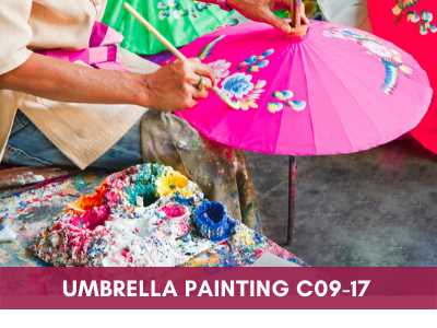 advance painting & media courses - Umbrella Painting C09 17 - Advance Painting & Media Courses