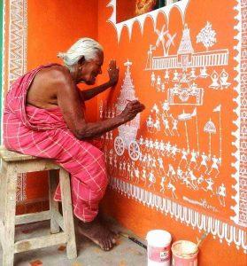 - Warli C10 01 02 279x300 - Warli, Madhubani, Miniature, Phad, Gond Painting – C10-01