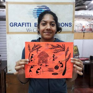 - Warli C10 01 04 300x300 - Warli, Madhubani, Miniature, Phad, Gond Painting C10-01