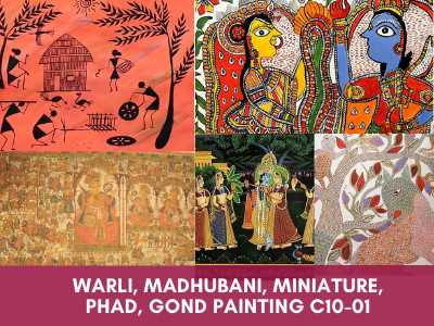 advance painting & media courses - Warli Madhubani Miniature Phad Gond Painting C10 01 - Advance Painting & Media Courses