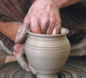 wheel pottery class - couple3 e1570784966212 300x273 - Pottery