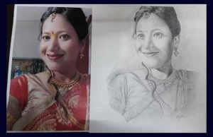 portrait pencil sketching services - Portrait Painting 01 300x194 - Portrait Pencil Sketching Services