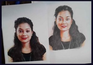 portrait pencil sketching services - Portrait Painting 03 300x209 - Portrait Pencil Sketching Services