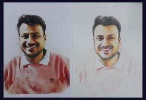 portrait pencil sketching services - Portrait Painting 04 300x206 - Portrait Pencil Sketching Services