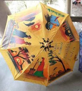 fabric and glass painting - Umbrella Painting C09 17 06 269x300 - Umbrella Painting C09-17 Course Photo Gallery